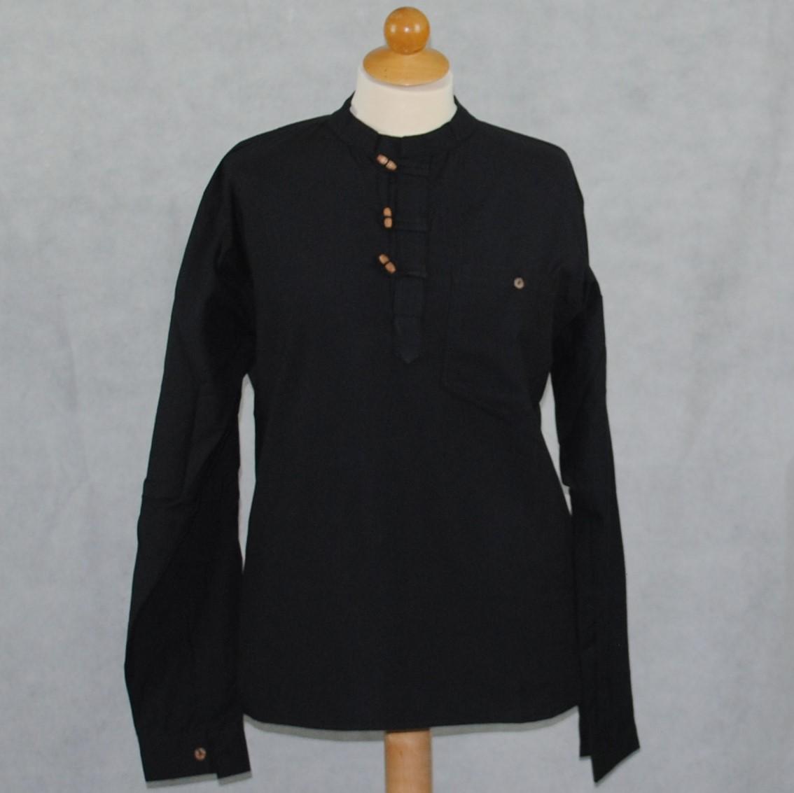 Heren Overhemd Zwart.Heren Overhemd A03 Zwart Pasal Himal